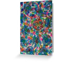 Circles And Squares under Clouds Greeting Card