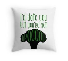 It makes me broccolive Throw Pillow