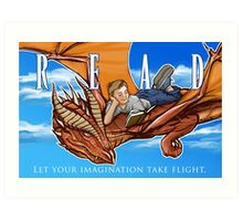 Imagination Take Flight Art Print
