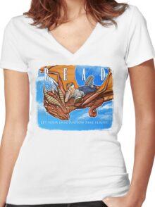 Imagination Take Flight Women's Fitted V-Neck T-Shirt