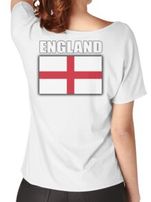 England, English Flag, Soccer, Football, Flag of St George, Cross of St George, Englander, English, Pure & simple Women's Relaxed Fit T-Shirt