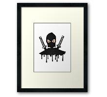 Black Ninja Framed Print