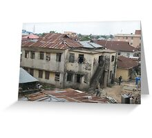 Lagos back street Greeting Card