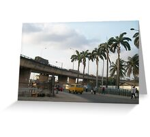 Lagos city centre  Greeting Card