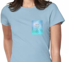 Serenity Prayer September Sky Womens Fitted T-Shirt