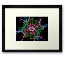 Fractal explosion Framed Print