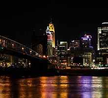 Cincinnati and the Roebling Suspension Bridge by Cathy Donohoue