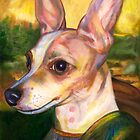 DaVin Chi  Portrait of a Chihuahua as the Mona Lisa by Nancy Daleo