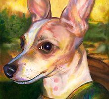 DaVin Chi  Portrait of a Chihuahua as the Mona Lisa by Nancy Daleo