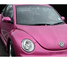 In The Pink VW Car Photographic Print