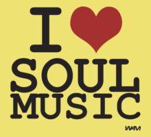 I love Soul Music Baby Tee