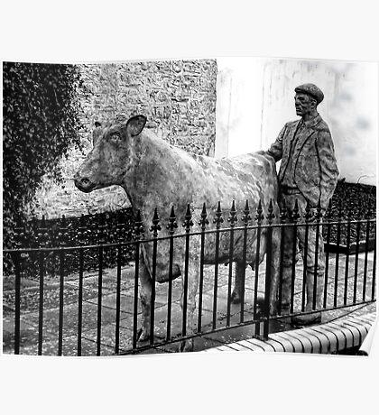 Rural Life Statue- Axminster.Devon.UK Poster