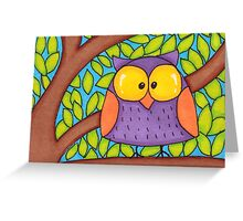 Startled Owl Greeting Card