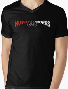 Night Riders Bicycling Shirt Mens V-Neck T-Shirt