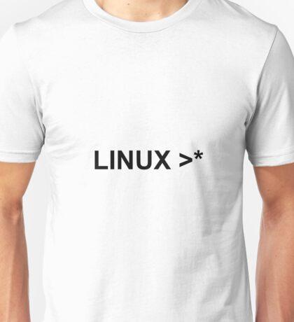 linux >* Unisex T-Shirt