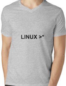 linux >* Mens V-Neck T-Shirt