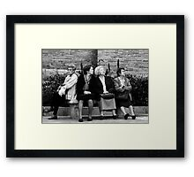 The Girls do NOT agree:) Framed Print