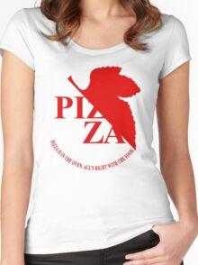Pizzavangelion Team Shirt Women's Fitted Scoop T-Shirt