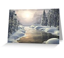 WINTER PIECE Greeting Card