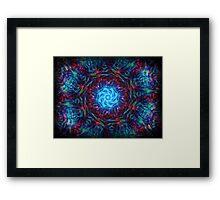 ©DA Neon Fractal I Framed Print