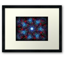 ©DA Neon Fractal II Framed Print
