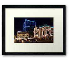 Vietnam. Ho Chi Minh City (Saigon). Opera House at Night. Framed Print