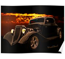 34 Ford Coupe Back in Black Poster