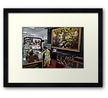 Vietnam. Ho Chi Minh City (Saigon). Silk Embroidery shop at the airport. Framed Print