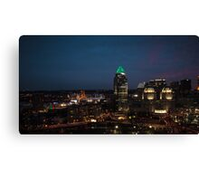 Bright Lights in the City Canvas Print