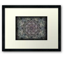 ©DA Neon Fractal IV Framed Print