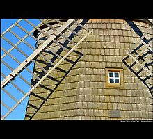 Historic Old Windmill Building Detail - Water Mill, New York by © Sophie W. Smith