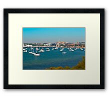 Modelling Geelong - Boats On A Bay Framed Print