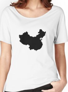 Map of China Women's Relaxed Fit T-Shirt