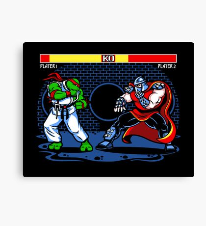 Sewer Fighter Canvas Print