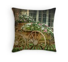 Posies in the front yard Throw Pillow