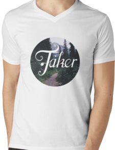BlueFakerForest No4 Mens V-Neck T-Shirt