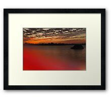 Color in the shallows Framed Print