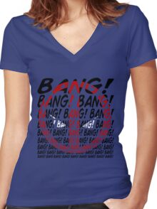 BANG! Women's Fitted V-Neck T-Shirt