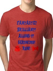 Doctor Who Catchphrases Tri-blend T-Shirt