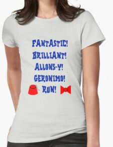 Doctor Who Catchphrases Womens Fitted T-Shirt