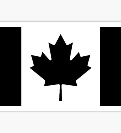 CANADA, CANADIAN, Canadian Flag, National Flag of Canada, Funeral, Mourning, A Mari Usque Ad Mare, Pure & Simple, in BLACK,  Sticker