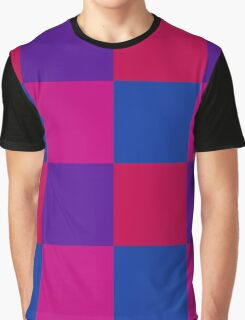Warm Cool Color Block Graphic T-Shirt