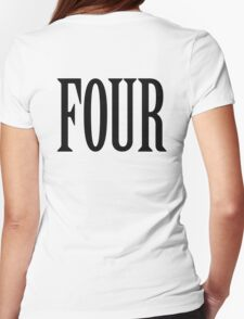 FOUR, 4, TEAM SPORTS, NUMBER 4, FOURTH, Competition, BLACK T-Shirt