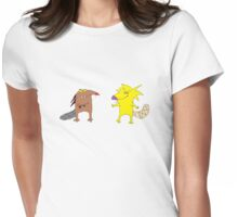 Angry Beavers - Norb and Dag Womens Fitted T-Shirt