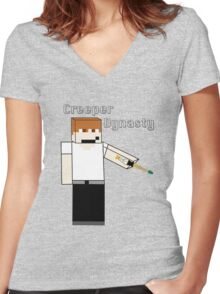 Creeper's Sonic Screwdriver Women's Fitted V-Neck T-Shirt