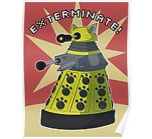 Yellow Kitty Dalek Poster