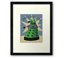Green Kitty Dalek Framed Print