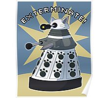 White Kitty Dalek Poster