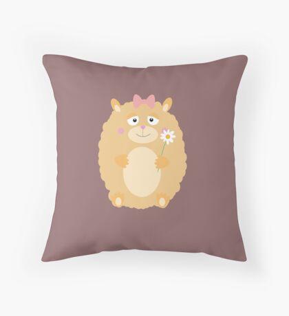 Fluffy Hamster Throw Pillow