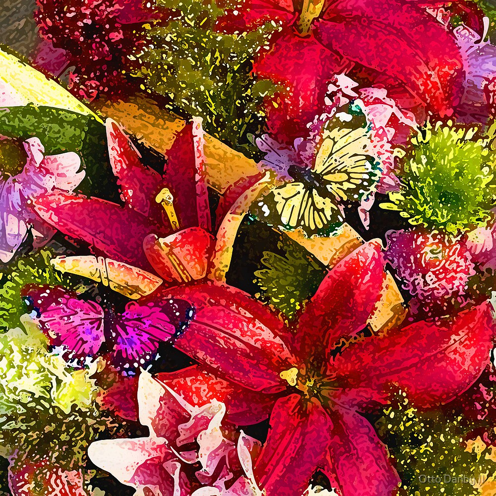 Butterfly Birthday Bouquet by Otto Danby II